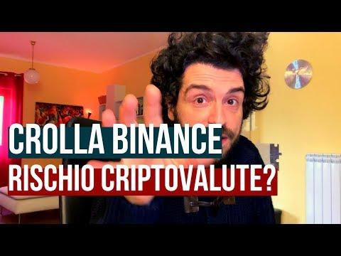 CROLLA BINANCE coin! Criptovalute a RISCHIO?😱
