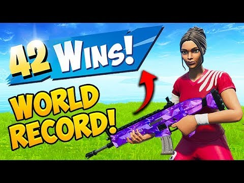 *WORLD RECORD* 42 WINS IN A ROW!! – Fortnite Funny Fails and WTF Moments! #551