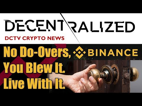 No Do Overs In Bitcoin, Binance // The Gold Bitcoin Battle // BTC the Gateway Drug for Facebook Coin