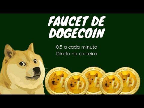 Faucet de Dogecoin – 0.5 Doges a Cada 1 Min (Direto na Carteira)
