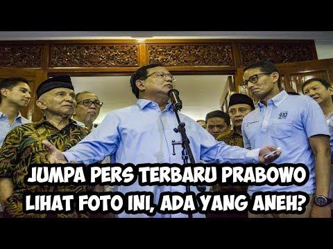 Jumpa Pers Terbaru Prabowo, Lihat Foto ini, Ada Yang Aneh