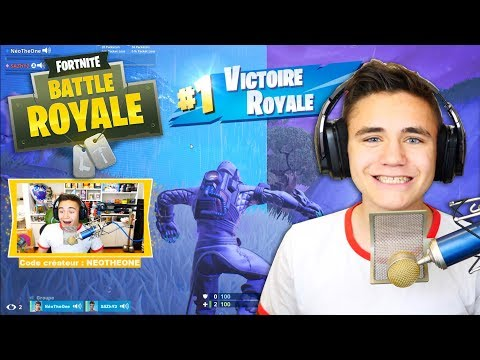 🔴MON PREMIER TOP 1 EN LIVE ! (REDIFFUSION) – FORTNITE BATTLE ROYALE – Néo The One