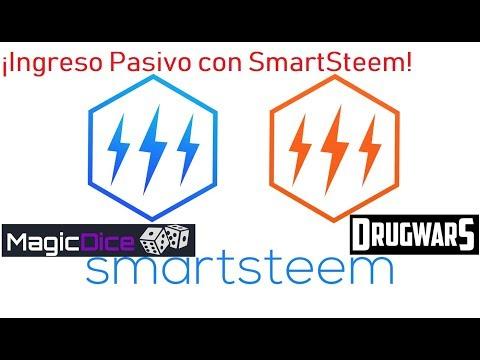 Ingreso pasivo con Steemit usando SmartSteem MagicDice y Drugwars