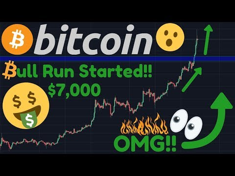 OMG!! BITCOIN BULL RUN CONFIRMED!! BTC AT $7,000!! | Top 7 Signs That The BULL RUN Started NOW!!!