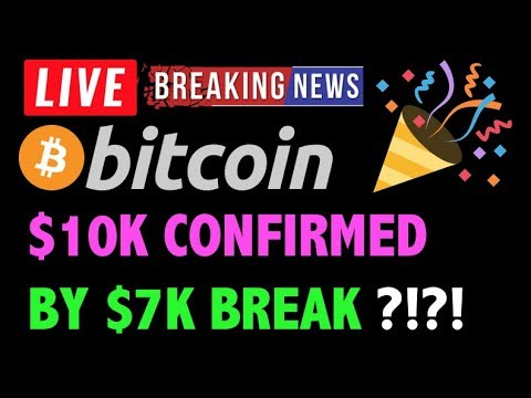 Bitcoin $7K HAS CONFIRMED RUN TO 10K?! -LIVE Crypto Trading Analysis & BTC Cryptocurrency Price News