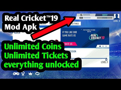 Real Cricket™19 Mod Apk unlimited coin,tickets,Unlocked Everything | Taksh Tech |