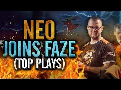NEO JOINS FAZE! TOP CS:GO PRO PLAYS OF NEO IN HIS CAREER!