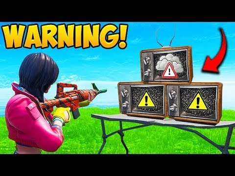 *NEW EVENT* WARNING SIGNAL ON TV'S!! – Fortnite Funny Fails and WTF Moments! #557