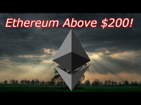 Ethereum LIVE : ETH is Over $200! Bitcoin @ $8,000.  Episode 508 – Crypto Technical Analysis