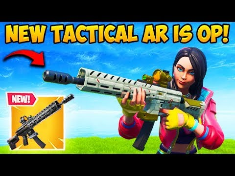 *NEW* TACTICAL ASSAULT RIFLE IS OP!! – Fortnite Funny Fails and WTF Moments! #558