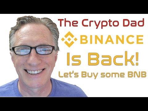 Binance is Back! Let's Buy Some BNB Coin. Let the Alt Season Begin!