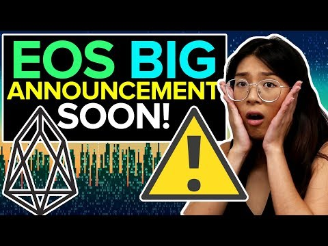 EOS BIG Announcement Coming SOON! It WILL make you GOOD GAINS!! + CARDANO ADA GIVEAWAY