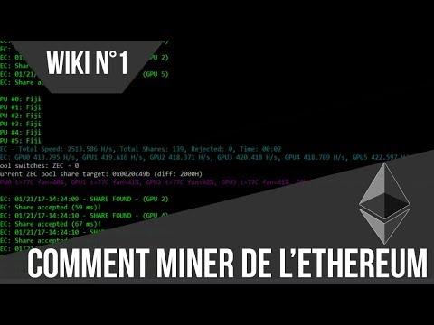 [FR] Miner de l'Ethereum [ETH][Wiki 1][Valable en 2019]