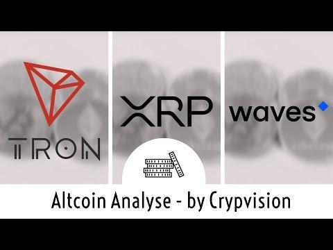 So könnten sich Tron, XRP und Waves preislich entwickeln!
