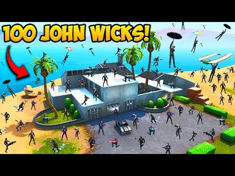 100 JOHN WICKS LAND AT JOHN WICKS HOUSE! – Fortnite Funny Moments! #560