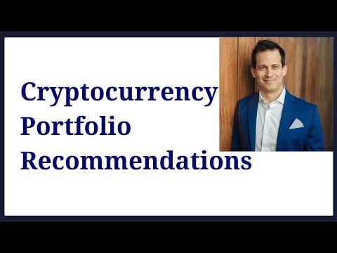 Cryptocurrency portfolio recommendations:  Bitcoin  BTC 45%, Ethereum  ETH 35%, Stellar XLM 10% . .
