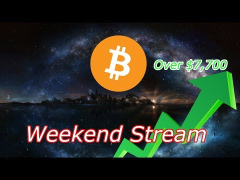 Bitcoin Live : BTC Over $7,700! Weekend Warriors. Episode 516 – Cryptocurrency Technical Analysis