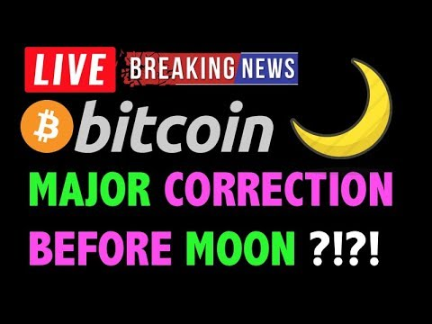 Bitcoin MAJOR CORRECTION BEFORE MOON?! -LIVE Crypto Trading Analysis & BTC Cryptocurrency Price News