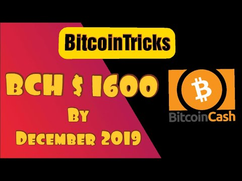 Bitcoin Cash $1600 by December 2019