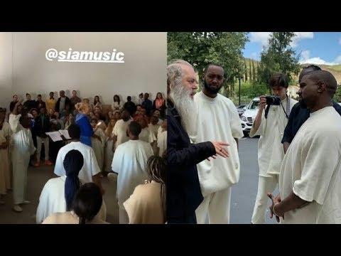 Sia visits Kanye West Sunday Service