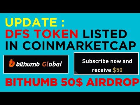 DFS ( Digital fantasy Token) listed COINMARKETCAP Update – Bithumb 50$ Free Token pre registration