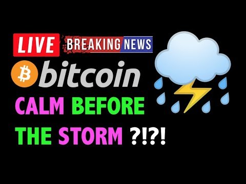 Bitcoin CALM BEFORE THE STORM?! ⛈- LIVE Crypto Trading Analysis & BTC Cryptocurrency Price News 2019