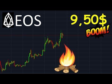 EOS 9.50$ HAUSSE EN VUE !?  analyse technique crypto monnaie bitcoin