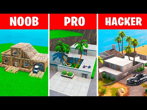 NOOB vs PRO vs HACKER – Fortnite: John Wick's House Challenge