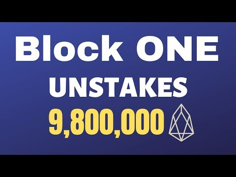 Block One Unstakes 9,800,000 EOS, New DAPP From B1?
