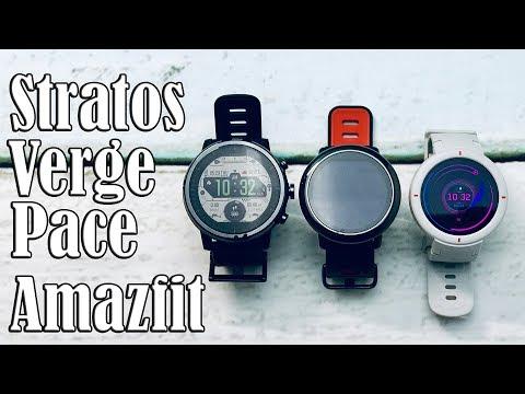 Что умеют Amazfit Verge, Amafit Pace, Amazfit Stratos? Как установить программы и скачать музыку?