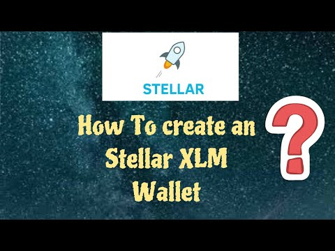 How To Create an Stellar XLM wallet. (Top 10 cryptocoin)