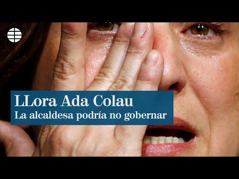 Las lágrimas de Ada Colau tras reconocer su derrota