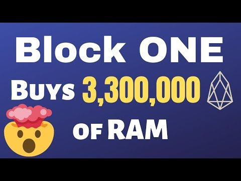 Block One Buys 3.3 Million EOS Worth of RAM – Something BIG Coming June 1st!