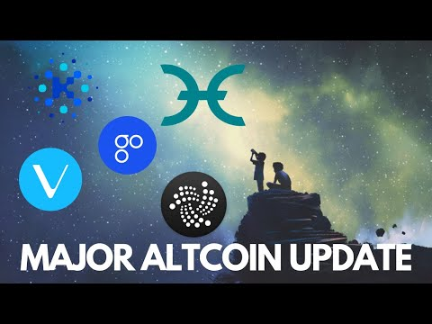 Major Altcoin Update! IOTA, Cardano, HOLO, OmiseGO, and VeChain News – Cryptocurrency News