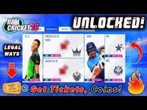 🔥Real Cricket 19 Get Unlimited Tickets & Coins.Unlock Tournaments.(Very Easy)Way