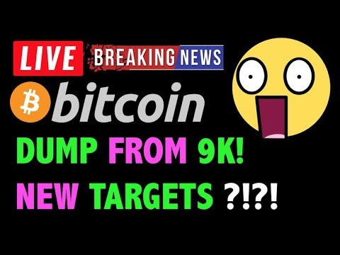 Bitcoin DUMP FROM $9K = NEW TARGETS?! – LIVE Crypto Trading Analysis & BTC Cryptocurrency Price News