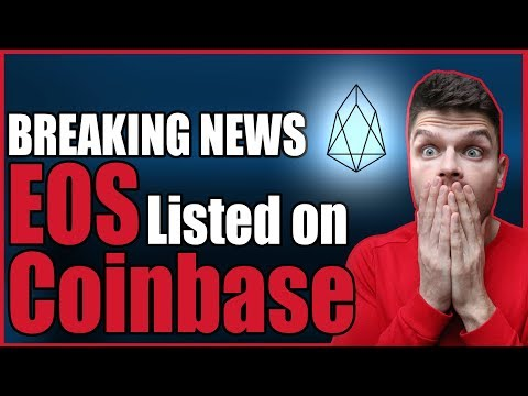 EOS listed on Coinbase! #breakingnews #eos #cryptocurrency