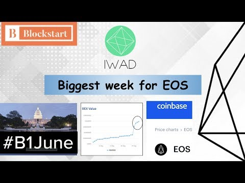 Biggest week for EOS – Coinbase, REX rewards, and June 1