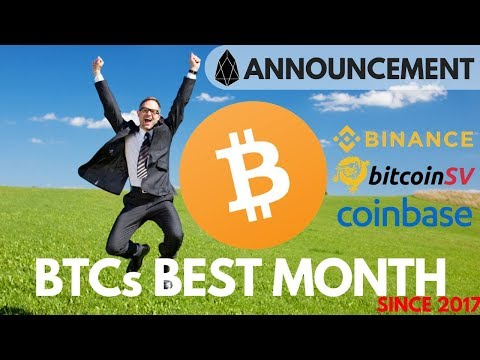Bitcoin's Best Month since 2017! EOS Announcement, Top Performer in May – Crypto News