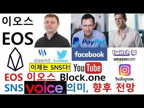 EOS 이오스 블록원 SNS 보이스(VOICE) 출시, SNS 산업 현황, 향후 전망
