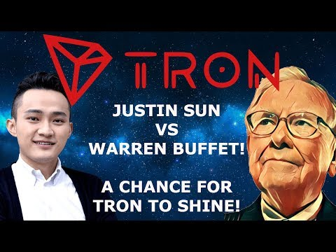 TRON TRX JUSTIN SUN VS WARREN BUFFET! A CHANCE FOR TRON TO SHINE! NEWS OUTLETS WILL AIR THIS!
