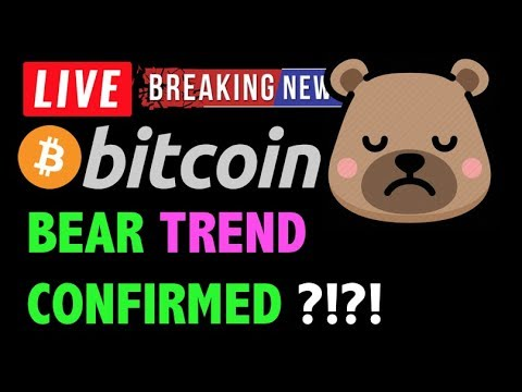 Bitcoin BEAR TREND CONFIRMED BY DUMP?! -LIVE Crypto Trading Analysis & BTC Cryptocurrency Price News