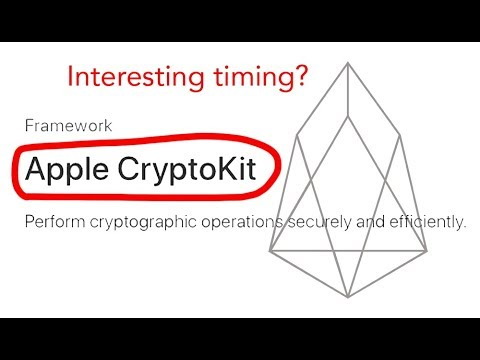 #APPLE #CryptoKit Launching Soon! #EOS #B1June coincidence?