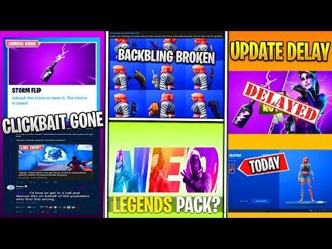 *NEW* Fortnite: 9.20 Update Delay, Wilde Skin Broken, Clickbait ENDING, Neo Legends Pack & More!