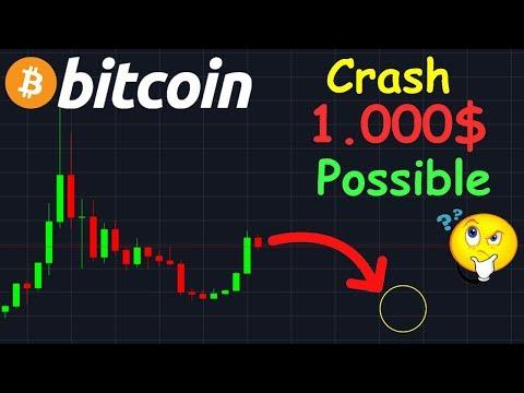 BITCOIN 1000$ GROS CRASH ENCORE POSSIBLE !? btc analyse technique crypto monnaie