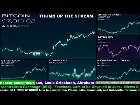 Will Facebook's Globalcoin beat Bitcoin? #Dogecoin Litecoin Ethereum Cryptocurrency #LiveStream