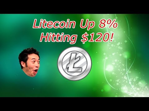 Litecoin Hitting $120! LTC Up 8%! Cryptocurrency Technical Analysis