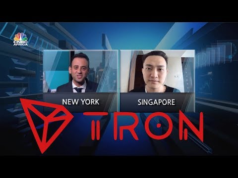 TRON TRX JUSTIN SUN ON CNBC! DAPP VOLUME BEATING EOS & ETH!