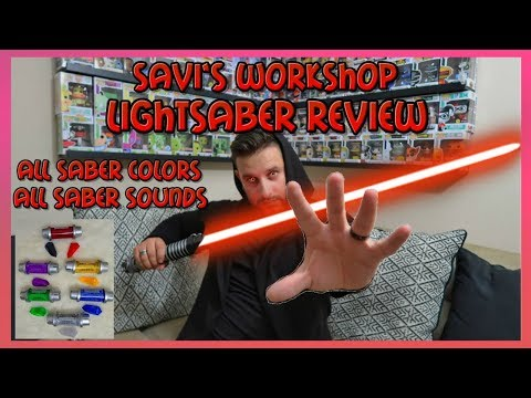$200 Custom Lightsaber In Depth Review (All Kyber Crystal Colors & Sounds) #disneyreview