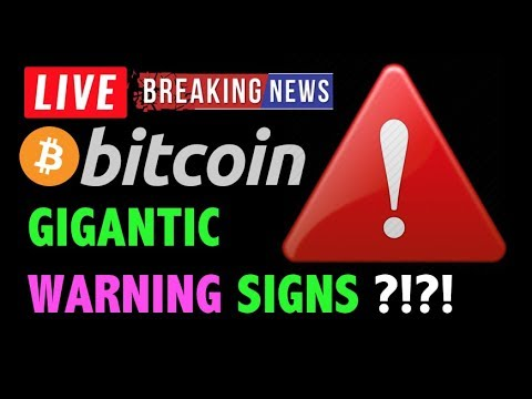 Bitcoin GIGANTIC WARNING SIGNS HERE?!🛑-LIVE Crypto Trading Analysis & BTC Cryptocurrency Price News